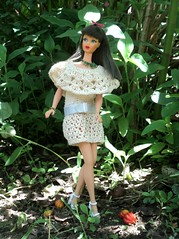 Brazilian Cherry! (doll4life14) Tags: nature fashion turn vintage outfit model mod doll handmade ooak crochet twist retro 1967 1968 mattel