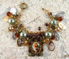 St. Anthony Cameo Catholic Charm Bracelet (inspirational) Tags: handmade cameo handcrafted virginmary stanthony religiosa medallas patronsaints catholicjewelry religiousbracelet catholicmedalscharmbracelet joyeriacatolica