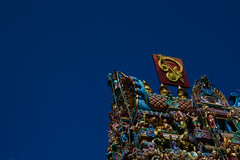 Sri Veeramakaliamman Temple (sunnyha) Tags: blue sky color colour outdoors temple singapore day colours kali sony sunny photograph littleindia photographier skyblue     cmwdblue sunnyha sonyilce7rm2 a7rm2 a7rll