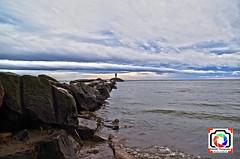 Cloud blanket in HDR (Kobie M-C Photography) Tags: lighthouse lake seascape colors landscape rocks pentax fineart hdr cloudscape k30