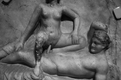 Party In Pompeii (peterkelly) Tags: bw woman toronto ontario canada man art sex digital carving pompeii northamerica intercourse rom royalontariomuseum