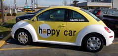 Happy Bug (FrogLuv) Tags: yellow vw beetle carite madisonheightsmichigan caritecom