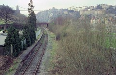 Clifton Bridge station (2), 1984 (Blue-pelican-railway) Tags: film station bristol closed railway cliftonbridge beeching