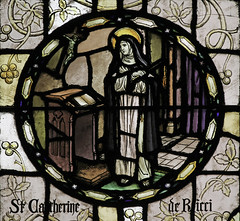 St Catherine de Ricci (Lawrence OP) Tags: nyc saint dominican stainedglass nun mystic stvincents stcatherinedericci