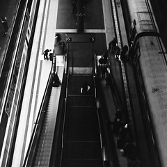 bright6 - dark5 (Anton C.) Tags: city travel people blackandwhite bw white black berlin 120 6x6 film monochrome station stairs train mediumformat germany square blackwhite exposure noir escalator streetphotography streetlife ishootfilm hauptbahnhof bronica transportation nikkor rodinal centralstation blanconegro rollfilm selfdeveloped longtime semistand adox zenza filmisnotdead zenzabronica analoguephotography zenzabronicas2a standdevelopement adoxadonal adofix rolleirpx100