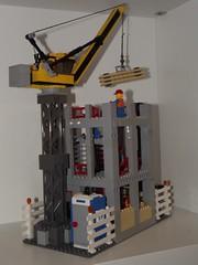 construction area 2 (salvobrick) Tags: city site construction lego crane working modular area