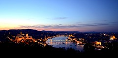 Evening Colours (Karlheinzeva) Tags: sunset hungary view budapest citylights gellrthill nikond3100