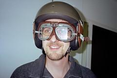 Jeroen with helmet (Ronald_H) Tags: film jeroen 2000 huckriede