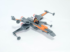 T-70 X-Wing with Pilot (modified) (jonathanwhudson) Tags: star force xwing wars base resistance the t70 awakens dqar