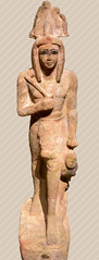Statue of a pharaoh, probably  Rameses IV, holding by the hair a Nubian prisoner, New Kingdom, 1145-1139 BC /   ,   IV,      ,  ,  , 1145 - 1139 . . . (SanctusBulgaria) Tags: egyptianart ramesesiv  egyptiansculptures   iv