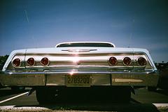 Chevrolet Impala / Lomo LC-A+ (ho_hokus) Tags: chevrolet film car 35mm lights lomo classiccar vintagecar lomolca chevy impala rearlights taillights fujisuperiaxtra400 2015 chevroletimpala waldwick 35mmcamera waldwickautoshow waldwickcarshow2015