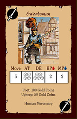 Swordsman (wagenerandi) Tags: monster human card mercenary heroquest swordsman