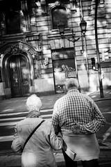 . ([ changó ]) Tags: street people blackandwhite bw españa white black byn blanco person persona spain couple hand cross shot gente negro bn bilbao persone espana elder zebra mano es bianco nero euskadi spagna coppia streetshot vecchi bnpersone wwwriccardoromanocom