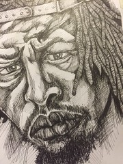 meechy darko drawing ink6 detail (storm1sky) Tags: art pencil ink faces drawing