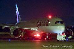 Qatar Airways Airbus A350-900 A7-ALH (Sri_AT72 (Sriram Hariharan Photography)) Tags: india tarmac night plane photography airport aircraft aviation airplanes airshow international airbus passion airways hyderabad departure beacon hamad spotting doha qatar pushback hyd 2016 spotter begumpet avgeek a350 xwb vohy a350900 a7alh