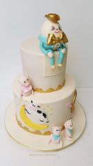 Nursery Rhyme Baby Shower cake (Koulas Cake Creations) Tags: threelittlepigs nurseryrhyme humptydumpty cowjumpedoverthemoon