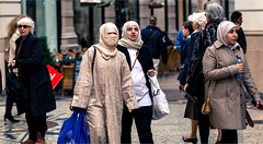People of The Hague (zilverbat.) Tags: street city portrait people dutch canon scenery dof image bokeh islam thenetherlands citylife culture streetphotography dramatic streetlife streetscene timelife multicultural passage ethnic thehague cultural humans streetshot mensen geloof moslim moslima boerka candidphotography burka religie streetcandid peopleinthecity socialdocumentaryphotography hofstad straatfotografie straatportret straatfotograaf zilverbat zingeving humansofthehague elvinhagekpnplanetnl