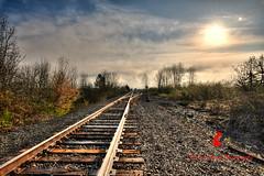 Rail Road (Ian Gwaltney) Tags: road county trees beautiful oregon train sunrise ian switch nikon rocks crossing tracks surreal rail eugene lane engineer hdr d700 gwaltney ianspix