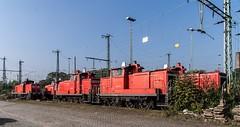 0516_1006_10_10_Wanne_Eickel_DB_294_361_DB_RaiLion_Logistics_363_137_DB_363_128_DB_364_611_DB_363_122 (ruhrpott.sprinter) Tags: railroad train germany logo deutschland diesel outdoor natur eisenbahn rail zug db cargo nrw passenger fret rag ruhrgebiet freight mak locomotives 155 logistics gaf 185 225 232 lokomotive volker 145 140 railion pkp wanneeickel sprinter ruhrpott 294 gter 363 364 1206 heitkamp reisezug stopfmaschine kirow ellok ler schotterplaniermaschine schwellentransportwagen thermohaubenzug