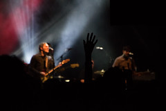 Brian Fallon (redrospective) Tags: red music white london silhouette concert hands guitar gig band instruments koko guitarist spotlights shortlist brianfallon april2016 brianfallonandthecrowes 20160408