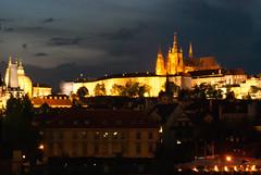 Prague Castle, from the Charles Bridge (stephengg) Tags: bridge castle night republic czech prague charles praha most vltava karlv