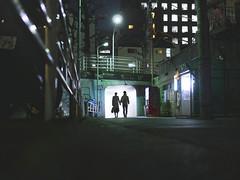 couple_1170103 (strange_hair) Tags: street japan night tokyo couple shibuya vm