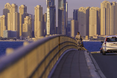 The Gentleman (|MBS-..|) Tags: bridge sunset architecture nikon dubai palm jumeirah