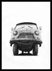 UAZ-452 (Karwik) Tags: car pencil pencils truck drawing van 452 samochd owek rysunek uaz olowek uaz452