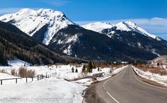 Good place for a stretch break (Alaskan Dude) Tags: travel mountains nature landscape scenery colorado telluride durango milliondollarhighway