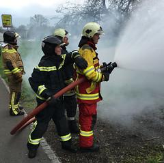 Liechtenstein Fire Brigade - Firefighters (Hellebardius) Tags: feuerwehr bomberos firedepartment pompiers firefighers vigilidelfuoco pompiere feuerwehrleute servicedesincendies brandweerlieden firefightersliechtenstein