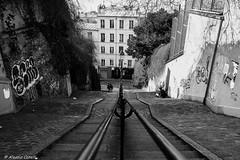 Montmartre (Alessio Catelli) Tags: street bw white black paris france monochrome europa europe stair fuji steps montmartre bn stairway francia bianco nero parigi scalinata xe1 xf1855