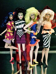 Pizzazz, Roxy, Stormer and Jetta (screamboy19) Tags: group jetta jem roxy misfits pizzazz integrity stormer holograms