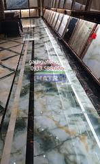Gạch vi tinh cẩm thạch xanh 8205 (80x80)