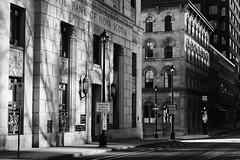 Halifax, NS (Gary Grout Photography) Tags: street old morning light bw novascotia shadows bank sidewalk halifax