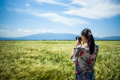 Beauty of Nature (DeSjönIs) Tags: camera leica travel girl grass 35mm europe dof bokeh f14 bluesky bulgaria greenfield asph m240 leicam 11663 републикабългария republikabǎlgarija