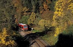 Talmühle  2015  650 311 (w. + h. brutzer) Tags: analog train germany deutschland nikon eisenbahn railway zug trains db 650 locomotive vt lokomotive eisenbahnen triebwagen triebzug triebzüge webru nagoldtalbahn