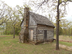 The Sneed Log Cabin (jimmywayne) Tags: oklahoma cleveland historic logcabin sneed pawneecounty everettandmandysneed