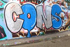 Cons (cocabeenslinky) Tags: street city uk blue england urban streetart london art writing canon silver graffiti paint artist power shot photos south united capital letters kingdom tunnel can spray powershot east waterloo chrome writers cons april graff leake se1 artiste 2016 g15 cocabeenslinky