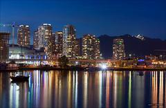 Stadium District (Clayton Perry Photoworks) Tags: canada skyline night vancouver reflections lights spring downtown bc falsecreek explorebc explorecanada