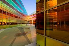 _DSC2228 (durr-architect) Tags: light sun colour reflection netherlands glass architecture modern facade offices almere dfense berkel unstudio