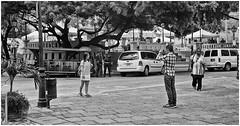 Turistas Orientales (Oriental Tourists) (Samy Collazo) Tags: leica photographer kodak oldsanjuan puertorico scanner tourists bn sanjuan epson viejosanjuan perfection fotografo turistas lightroom kodaktrix400 v500 kodakd76 lightroom3 leicalllf1951 summitar50mmf201951