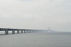 Bridge to the other side of the world (elisakankaala) Tags: bridge sea seascape horizontal grey skne sweden minimalism resund resundsbron resundbridge