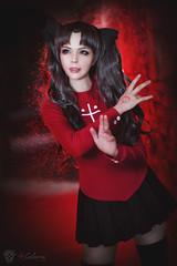 Rin Tohsaka (Fate/Stay Night) (Calssara) Tags: game anime cosplay magic blueeyes manga fate bows rin schooluniform grayhair fsn summon typemoon fatestaynight rintohsaka ubw cosplaycostume tosaka cosplaygirl visualnovel tohsakarin unlimitedbladeworks fateseries darkgrayhair