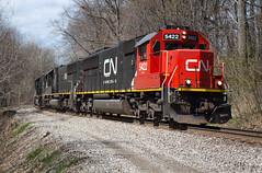 Wrong Leader on the Bessemer (Joseph Bishop) Tags: railroad ohio cn train track tracks rail railway trains rails railfan ble emd conneaut sd60 5422 bessemerlakeerie