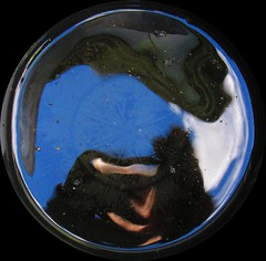 Bucket Full of Sky 003 (gallftree008) Tags: ireland dublin irish abstract reflection water metal reflections dark drops bucket darkness display infinity perspective drop chain reflected reflective dub core reflects