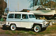 1957 Willys Jeep Utility Wagon (aldenjewell) Tags: wagon drive jeep postcard utility 1957 willys 2wheel