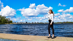 Kim Lobbezoo 12 (M van Oosterhout) Tags: portrait people woman sun lake holland cute netherlands girl beautiful face fashion female clouds model pretty photoshoot modeling stunning editorial