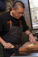 Chef Alex Ong 4/19-4/20/16 (UMassDining) Tags: cooking alex demo chef cutting presentation guest ong berk