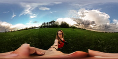 southwest storm clouds (119/366) (severalsnakes) Tags: park portrait sky lake storm public water clouds self pond 360 missouri ricoh spherical degrees theta selfie sedalia thetas theta360 cloverdell saraspaedy