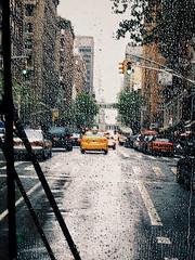 rainy manhattan. (belle.fleur) Tags: newyorkcity trees urban trafficlights cars window rain buildings drops spring manhattan citystreets uppereastside onthebus rainday itsspring yellowcabs rainysunday citytraffic alidajolie ditmeshi shinqelq nautobuz capikashiunxham rainyspringinnyc ditepranveremeshi shibienmanhattan
